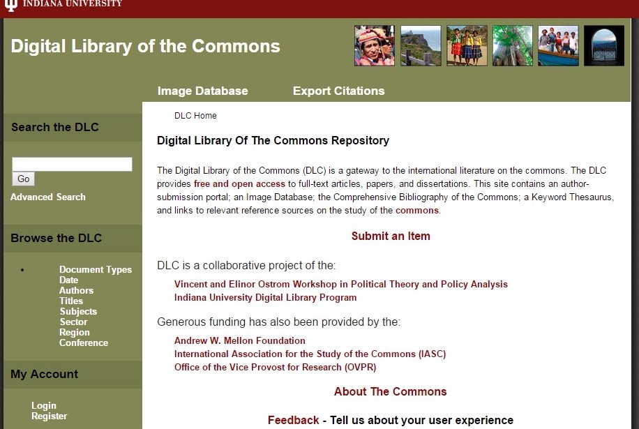Digital Library of the Commons Repository